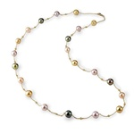 Multi-Colored Tahitian Pearl Necklace