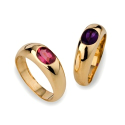 Colored Stone Ring Amethyst
