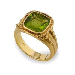 Colored Stone Ring Peridot